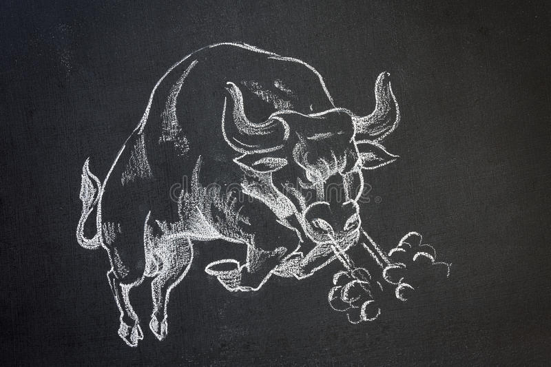 Bull sauvage illustration libre de droits