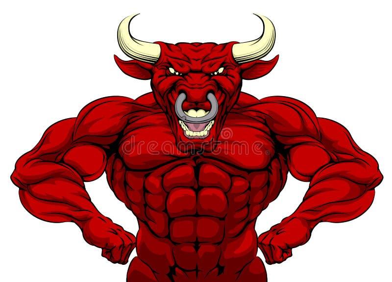 Bull se divierte la mascota libre illustration