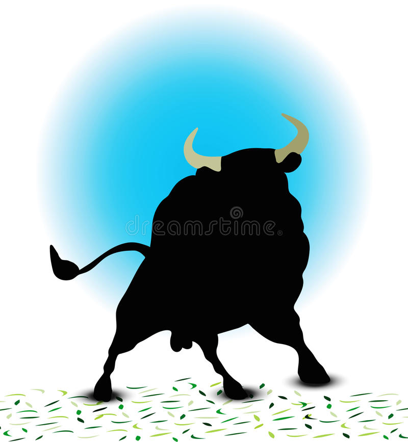 Bull Silhouette royalty free illustration