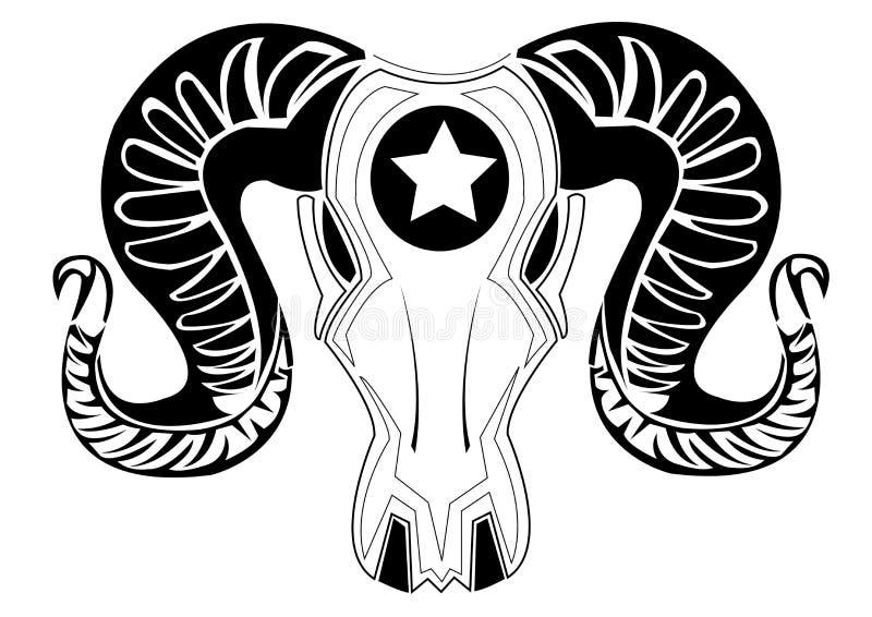 Download Bull tattoos. stock vector. Image of farm, ornament, element - 34273801