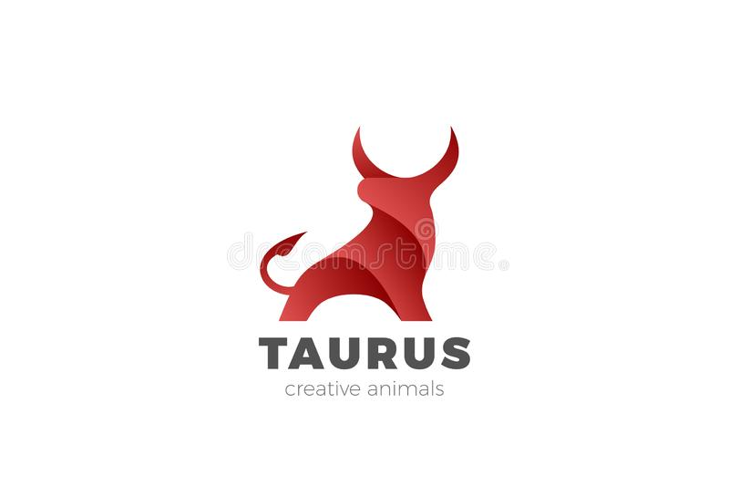 Bull Taurus Bison Buffalo Logo design vector template. Beef Meat Steak House Restaurant Logotype concept icon vector illustration