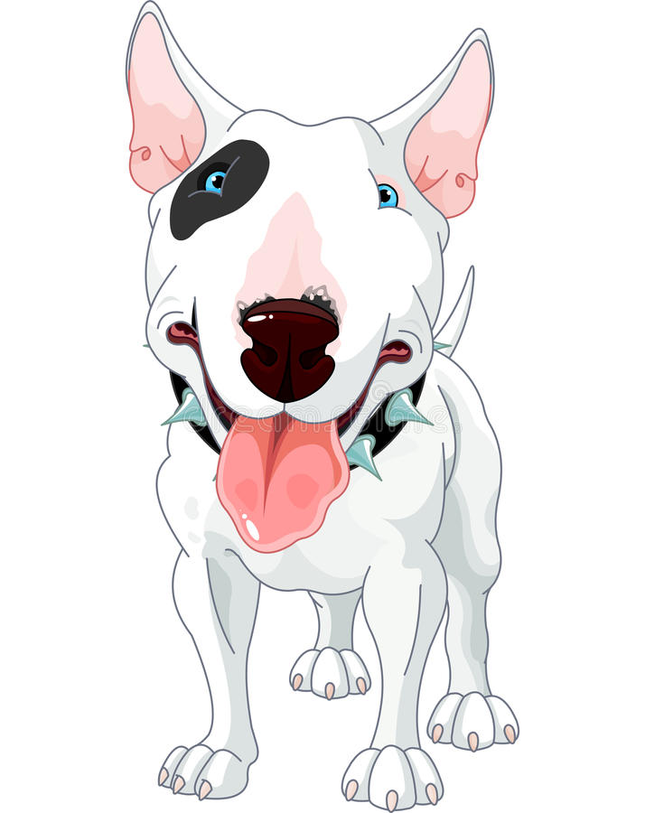 Bull terrier vektor illustrationer