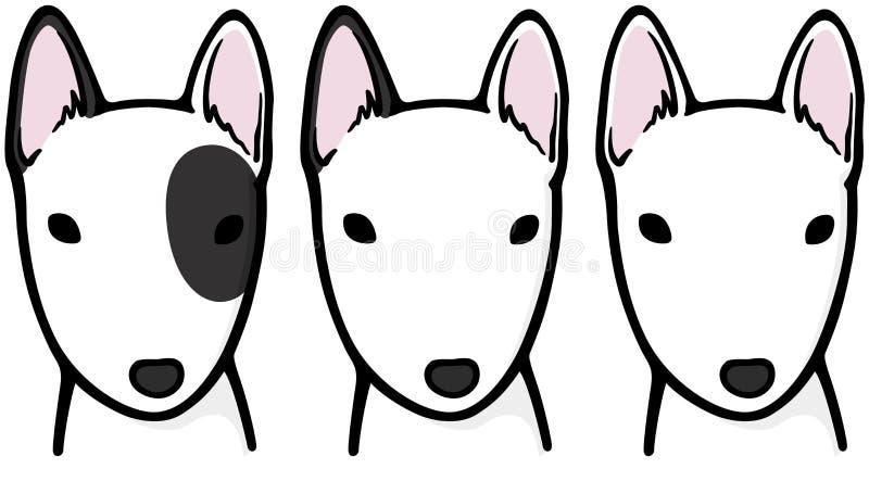 Bull terrier vektor illustrationer