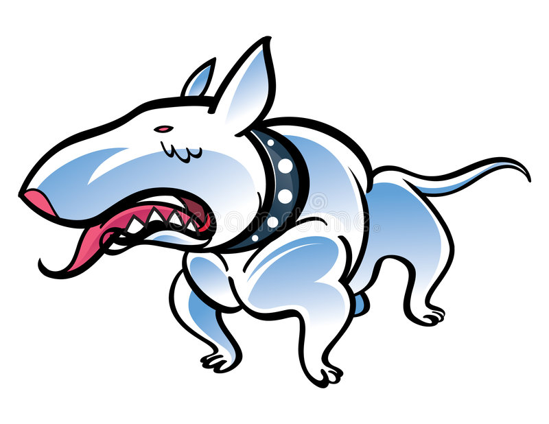 Download Bull Terrier stock vector. Illustration of breed, wicked - 8137053