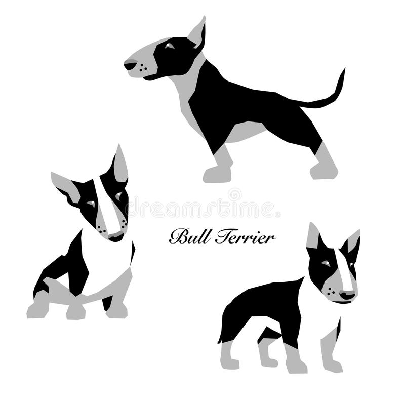 Bull terrier stock illustrationer