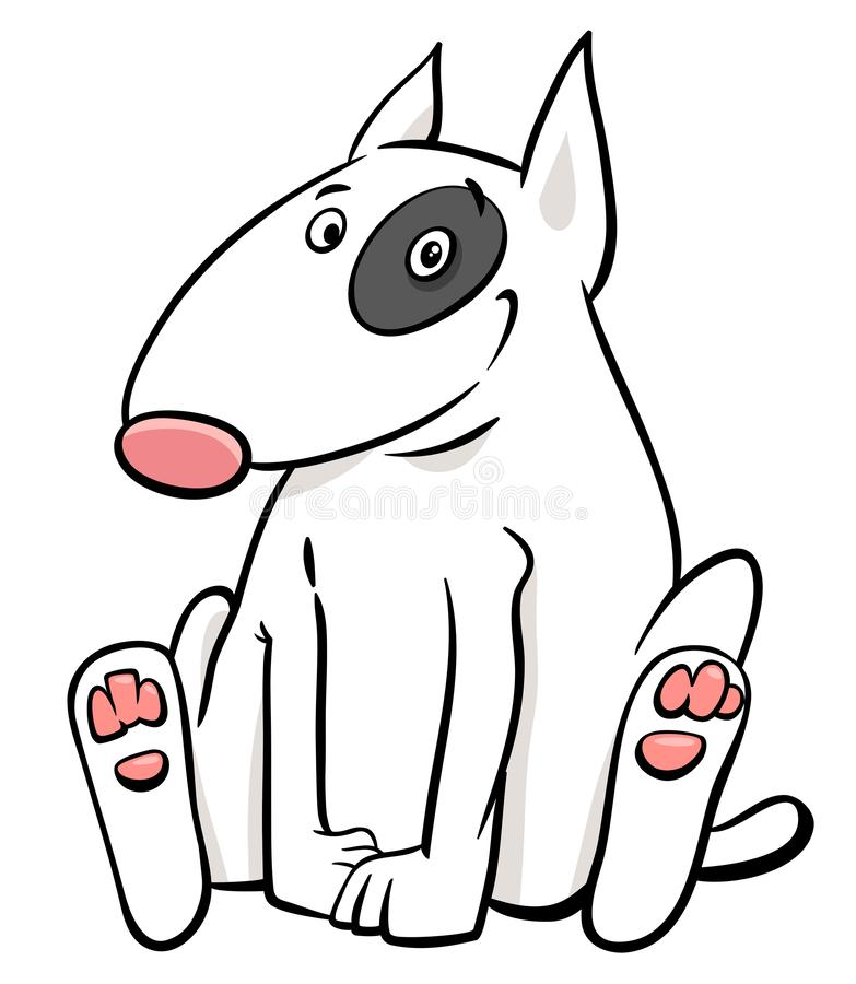 Free Bull Terrier Dog Cartoon Animal Character Stock Photography - 126427522