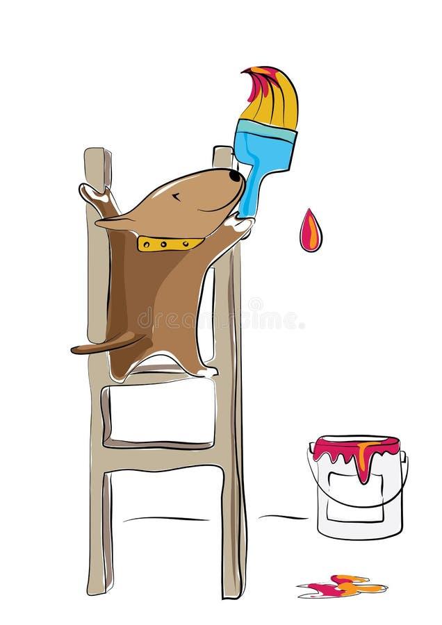 Bull terrier obraz zdjęcie royalty free