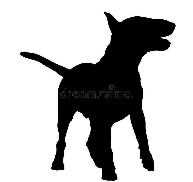 Download Bull terrier silhouette stock illustration. Illustration of nobody - 12874200