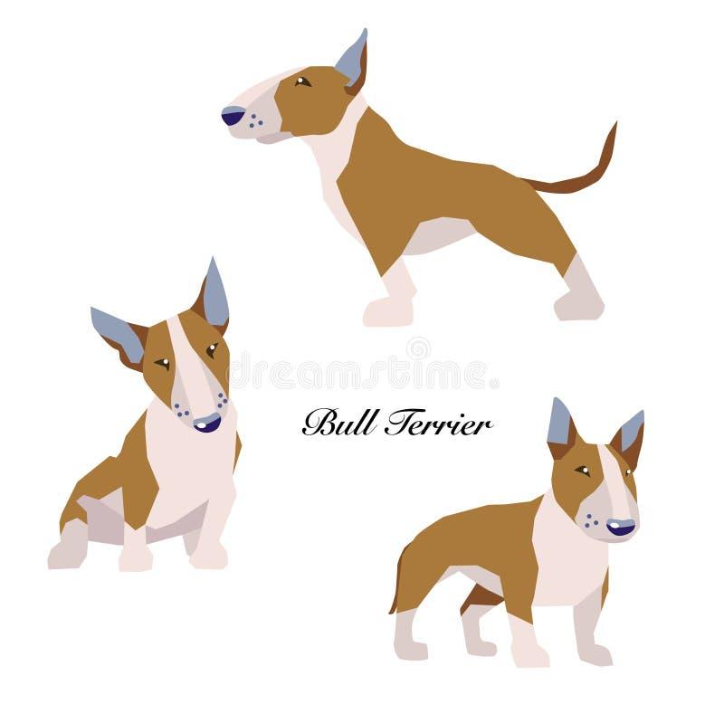 Bull terrier royalty free illustration