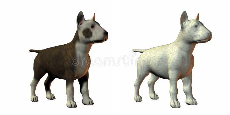 Download Bull terrior dog 3d model stock illustration. Illustration of face - 9571521