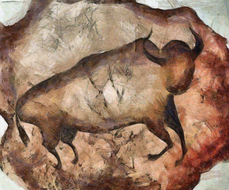 Bull um la Altamira ilustração do vetor