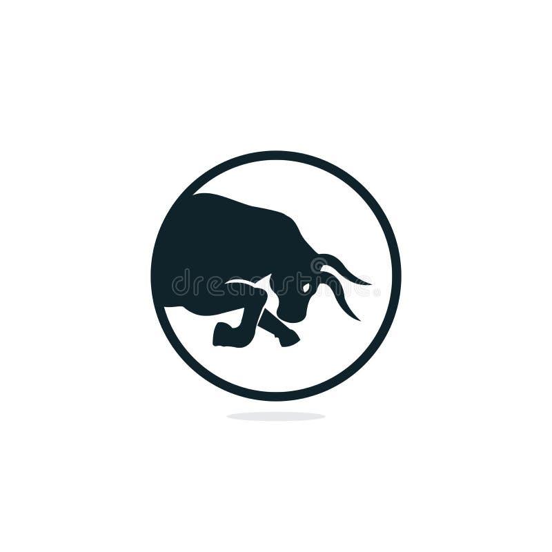 Bull vector logo design. vector illustration