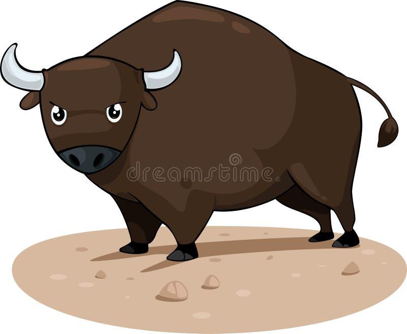Bull-Vektor lizenzfreie abbildung