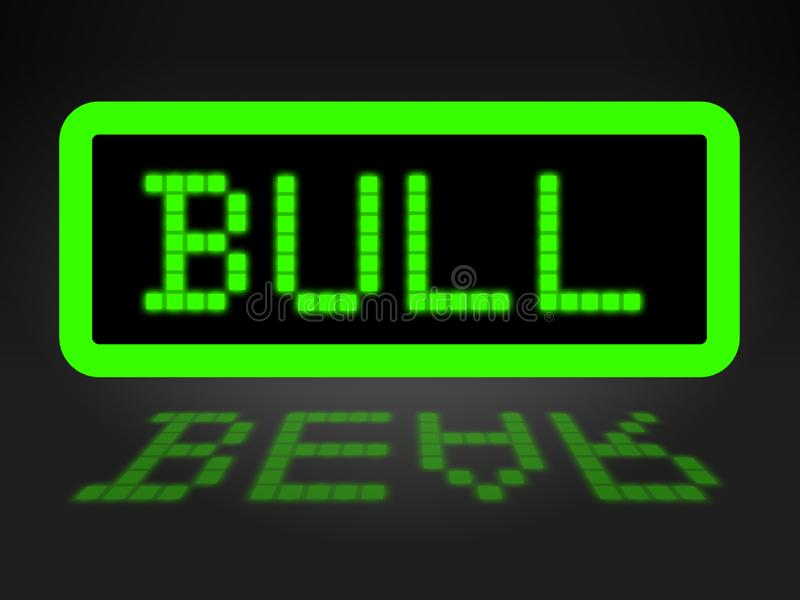 Bull Vs Bear Market Sign Means Profit Or Loss Investment Trading 3d Illustration stock illustration