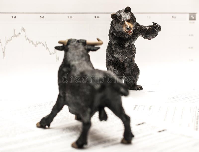 Bull Vs Bear royalty free stock images