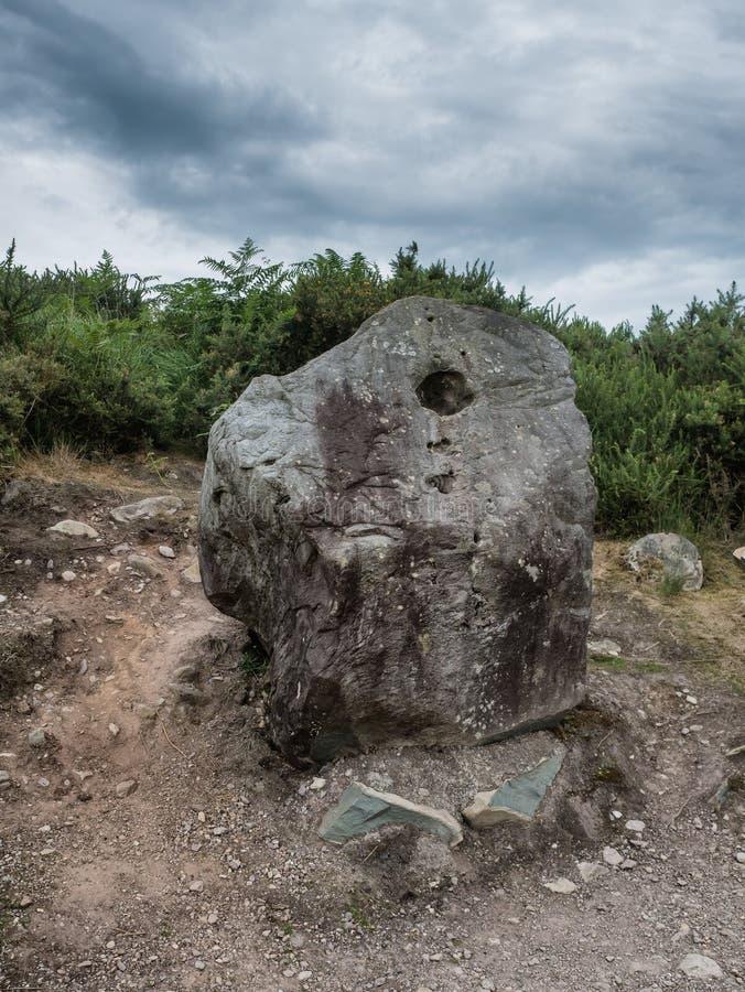 Bullain sten i Bonan arvmitt i västra Irland arkivfoton