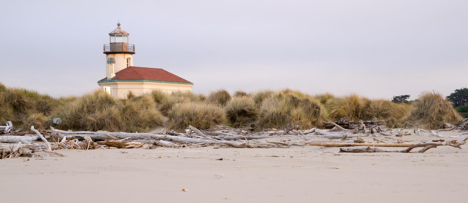 Bullards Beach Coquille River Lighthouse Bandon Oregon Pacific Beach stock image