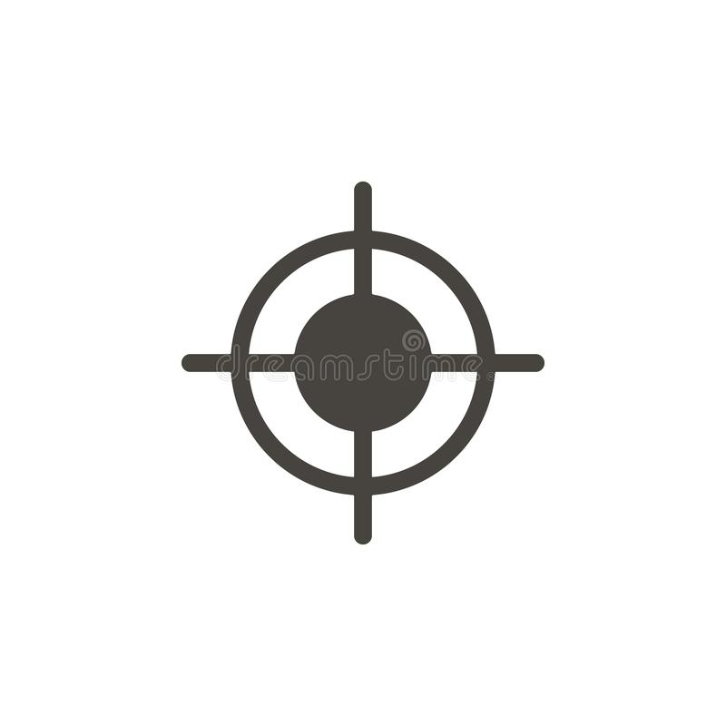 Bullauge, Dartscheibevektorikone Einfaches Element illustrationBullseye, Dartscheibevektorikone Materielle Konzeptvektorillustrat stock abbildung