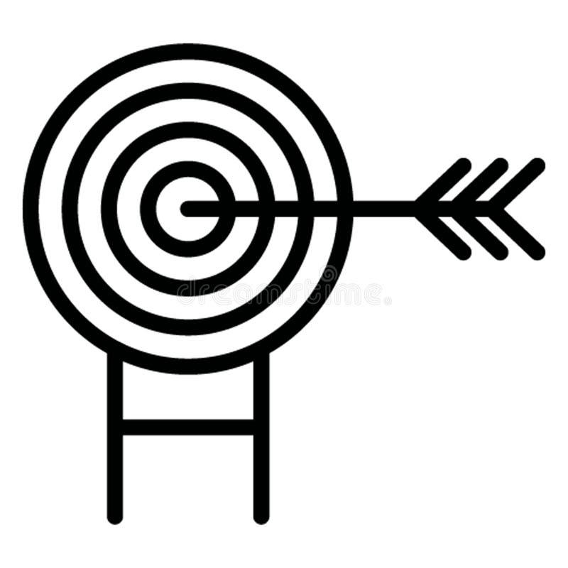 Bullauge lokalisierte Vektor-Ikone, die leicht ändern kann lizenzfreie abbildung