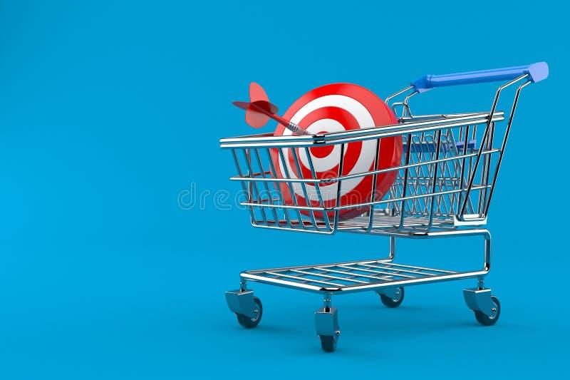 Bullauge mit Einkaufswagen vektor abbildung