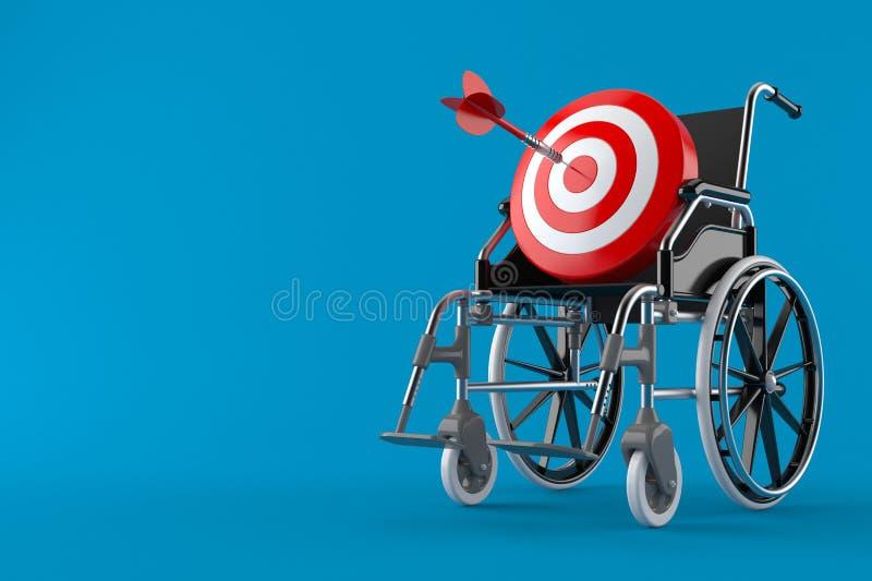 Bullauge mit Rollstuhl vektor abbildung