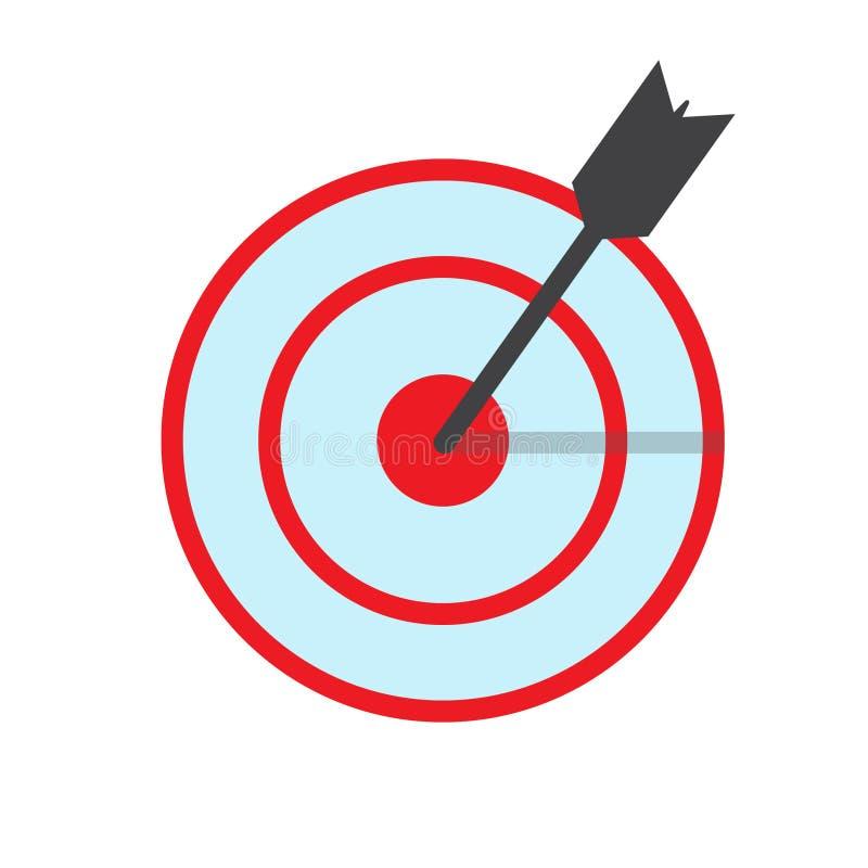 Bullaugen- oder Dartscheibeikonenbild, EPS10 lizenzfreie abbildung