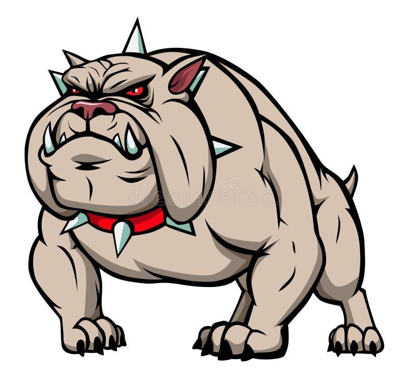Download Bulldog stock vector. Image of standing, muscular, teeths - 19950328