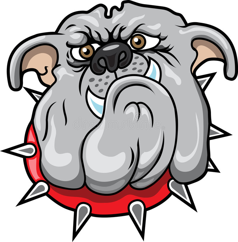 Bulldog. This is a bulldog that can be used as a team mascot logo or anything else royalty free illustration