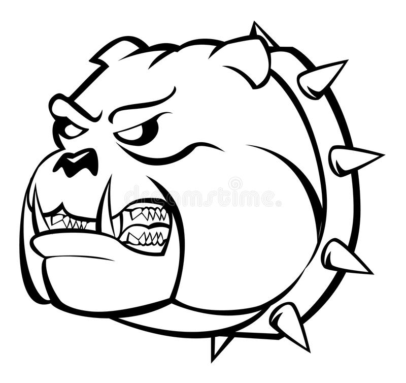 Download Bulldog angry stock vector. Illustration of portrait - 34050974