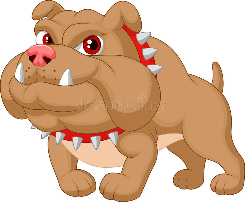 Bulldog cartoon. Illustration of Bulldog cartoon stock illustration