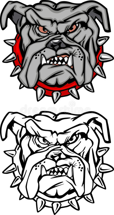 Free Bulldog Cartoon Mascot Vector Logo Stock Photo - 11459470