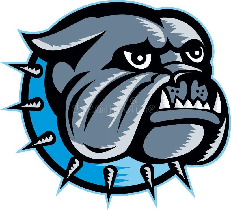 Bulldog Dog Head Mascot Royalty Free Stock Image