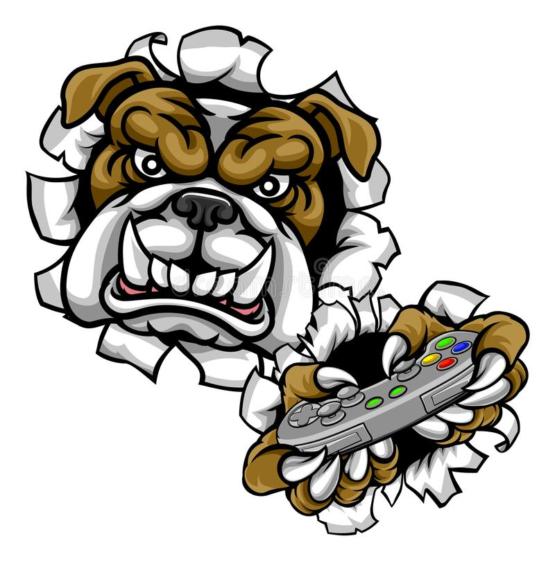 bulldog esports gamer mascot stock vector illustration of games