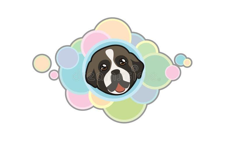 Bulldog francese sveglio di vettore illustrazione di stock