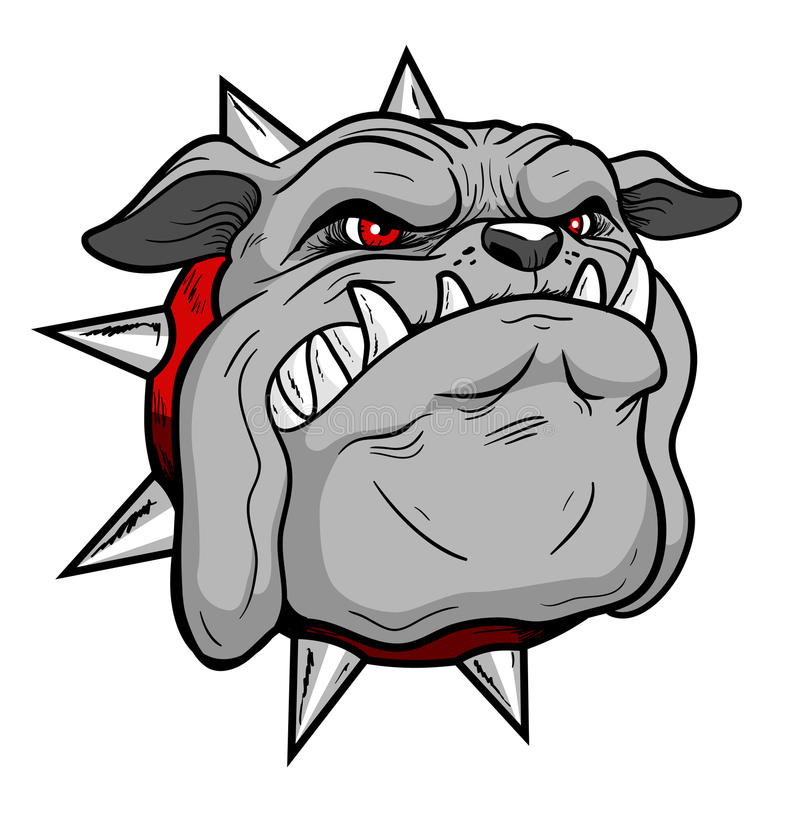 Download Bulldog head stock illustration. Image of character, stylyzed - 20936661