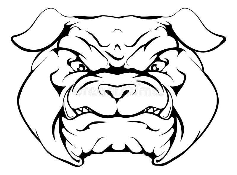 Bulldog. An illustration of a tough looking bulldog animal sports mascot or character vector illustration
