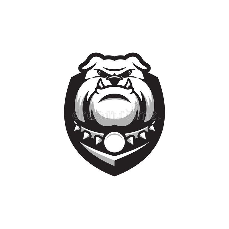 Awesome bulldog logo ready to use. For your company stock illustration