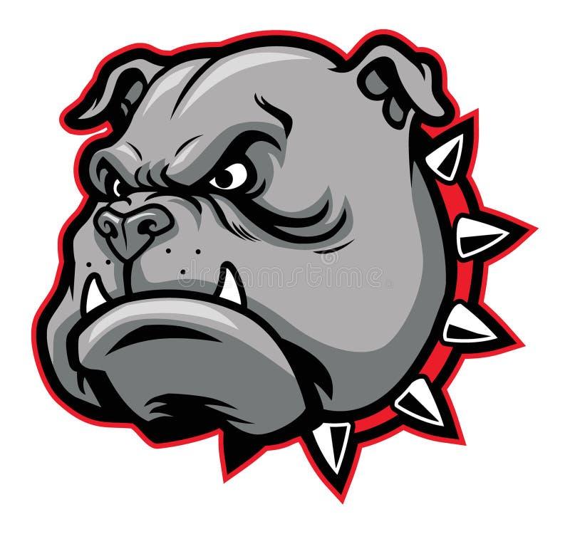 Bulldog mascot. Vector of bulldog head mascot suitable for sport team or club mascot stock illustration