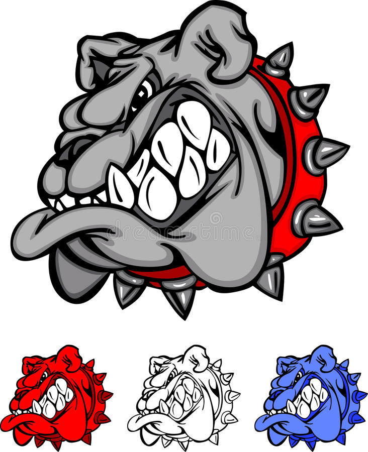 Free Bulldog Team Mascot Vector Logo Royalty Free Stock Photo - 16892775