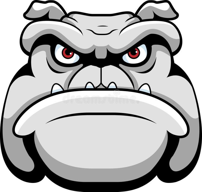 Bulldogge-Kopf stock abbildung
