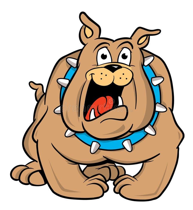 Bulldoggekarikaturabbildung vektor abbildung
