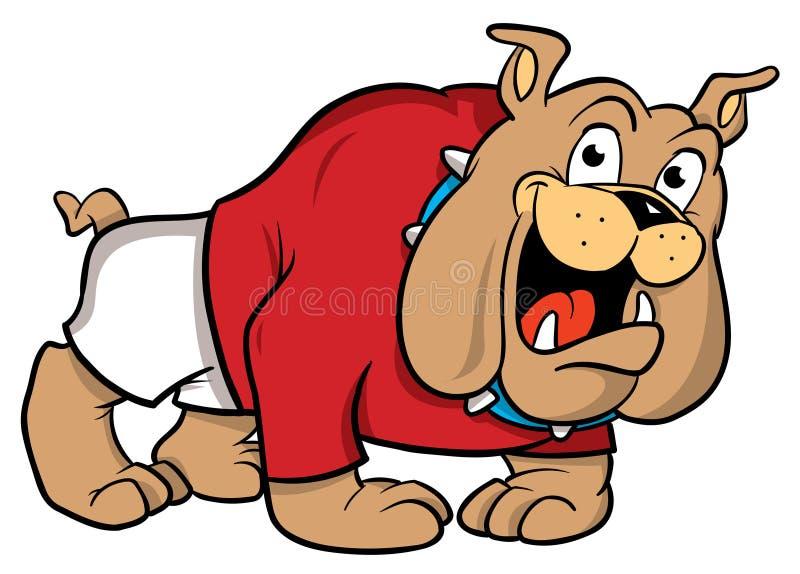 Bulldoggekarikaturabbildung stock abbildung