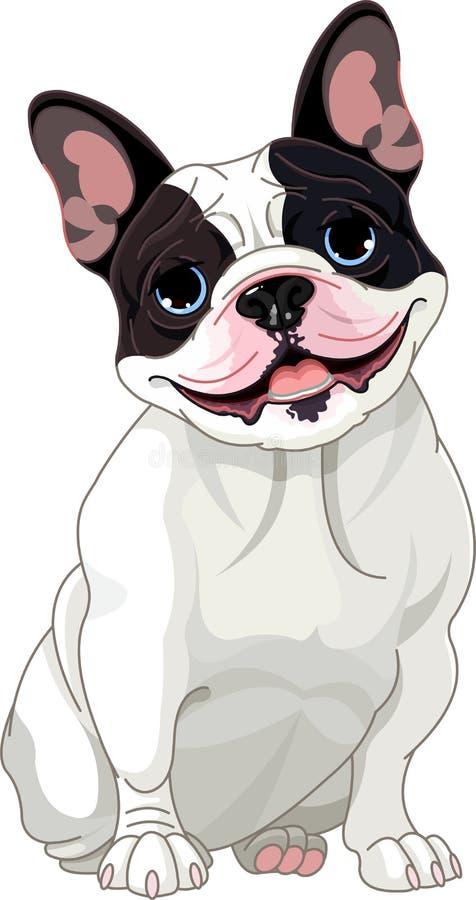 bulldoggfransman stock illustrationer