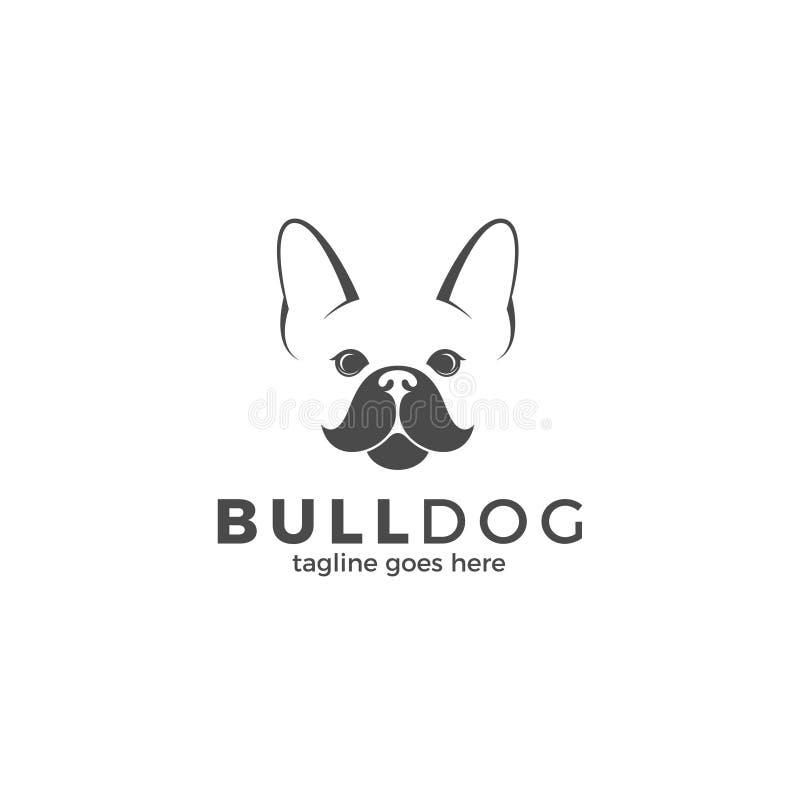 bulldogging logo royaltyfri illustrationer