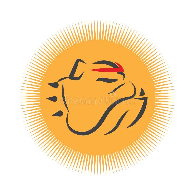 Bulldoggståendemaskot royaltyfri illustrationer
