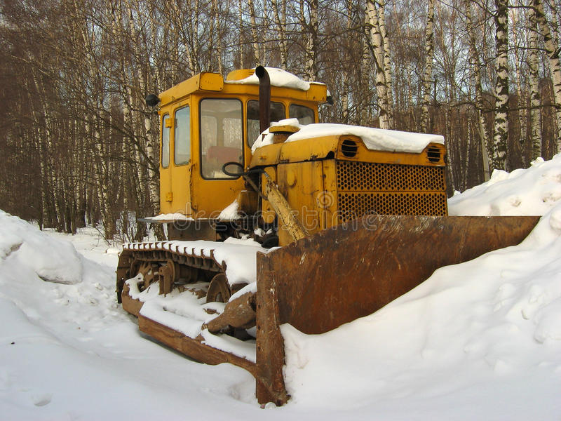 Download Bulldozer stock photo. Image of forest, winter, track - 13279166