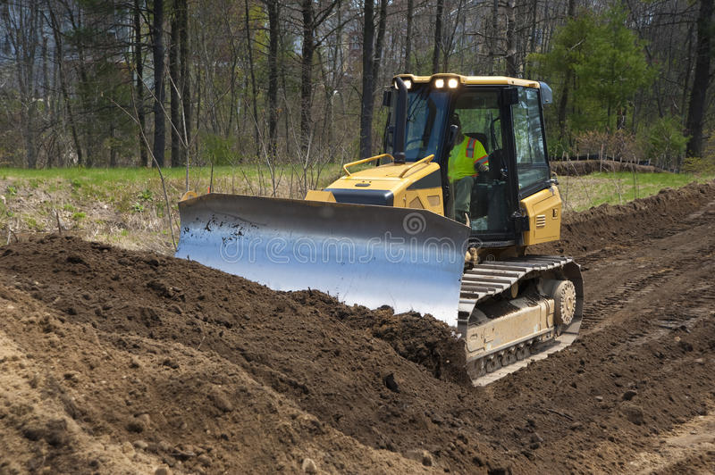 Download Bulldozer stock image. Image of building, mover, blade - 19368823