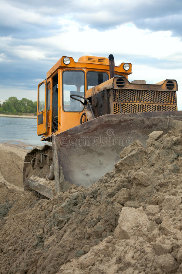 Download Bulldozer stock photo. Image of builder, ditch, construction - 25546936