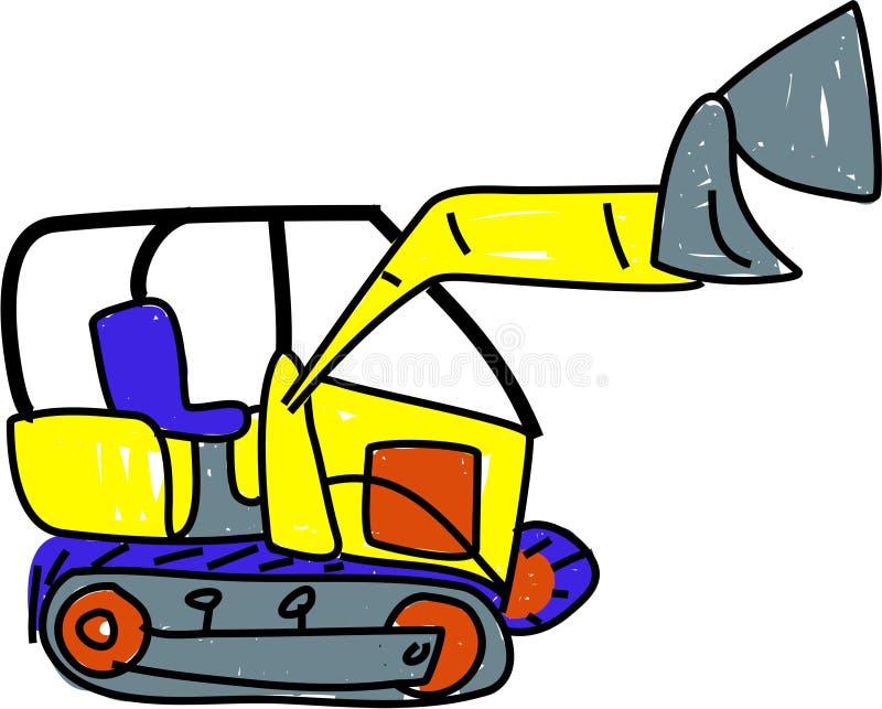Bulldozer stock illustratie