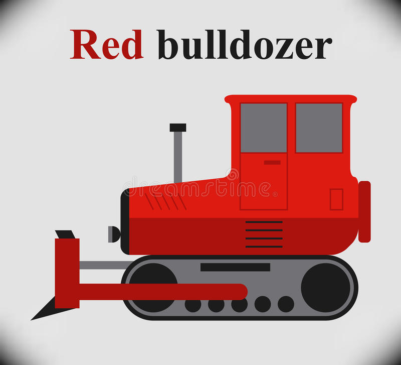 Bulldozer illustrazione di stock